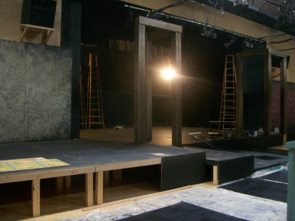 Stage construction for BLT production of Frankenstein