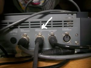 DMX port #1 on the back of BLT's ETC 48/96 light board