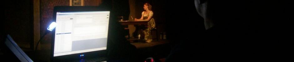 Tech rehearsal for BLT production of Frankenstein