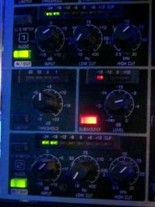VUE meters on BLT's Ultragraphics equalizer