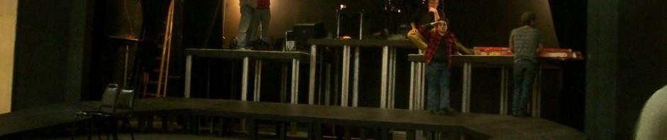 BLT Stage construction for Jesus Christ Superstar - band platforms, Jan. 27, 2013