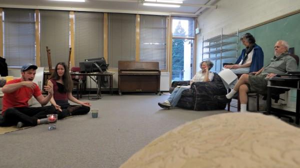"""Rehearsal photo for """"Bottom Line"""""""